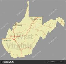 Virginia Map Virginia State Map Virginia State Road Map by West Virginia Vector Accurate High Detailed State Map With Commu