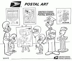 post office coloring page coloring home