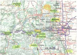 Colorado Mountain Map by Civitan Around The World