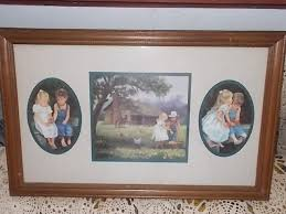 Homco Home Interiors Home Interiors Homco Denim Days Wood Framed Picture Not Included