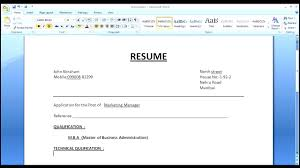 Resume Format Pdf For Mca by Extremely Inspiration Simple Resume Format 12 How To Make A Simple