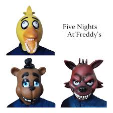 Freddy Halloween Costumes Fnaf Halloween Costume Nights Freddy U0027s Chica Foxy Fazbear