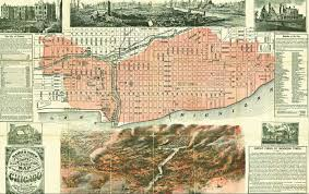 Chicago City Map by Frederick Law Olmsted Surveys A City Burned To The Ground The Nation