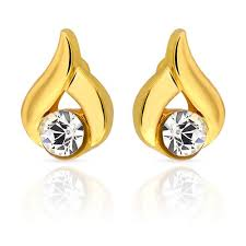 kerala earrings mahi eita collection white gold plated stones stud