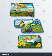 South Dakota travel merry images Retro travel stickers united states south stock vector 179312270 jpg