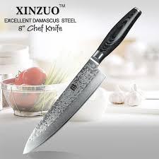 chinois à la cuisine xinzuo haute qualité 8 pouces chef couteau chinois meilleur damas