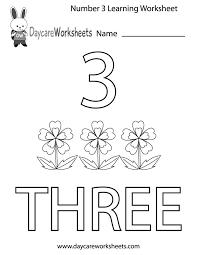 number 3 worksheet worksheets