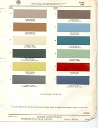1958 ford paint codes