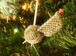 christmas gift on the needles