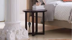 criss cross round bedside table domayne