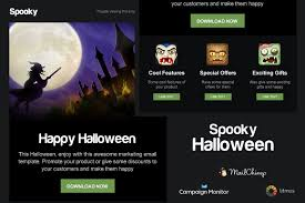 Campaign Monitor Responsive Email Template by Spooky Halloween Email Template Email Templates Creative Market