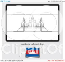 Cambodia Flag Clipart Of A Coloring Page And Sample For A Cambodia Flag
