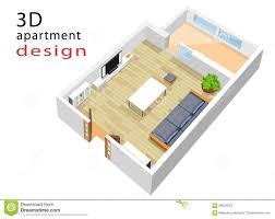 apartment design floor plan apartment interior design 3d floor plan stock illustration