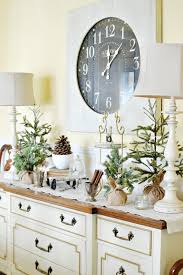 how to decorate a buffet table winter buffet table in the dining room at the picket fence