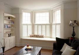 beautiful bow window shutters and decorating ideas inside bow window shutters
