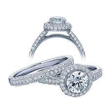 wedding set halo 2 carat diamond wedding set in white gold jewelocean