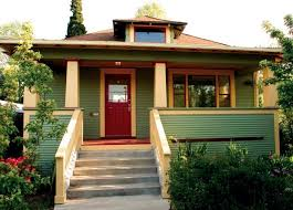 exceptional bungalow porch 8 simple tapered columns bookend the