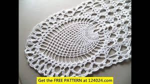 Crochet Table Cloth Crochet Tablecloth Oval Youtube