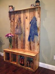 Coat Tree With Bench Pallet Hall Tree Shoe Rack Or Coat Rack 101 Pallets
