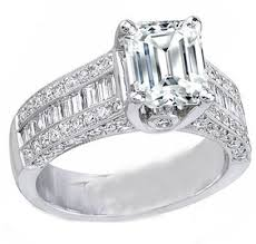 engagement rings with baguettes engagement ring emerald cut engagement ring three row baguette