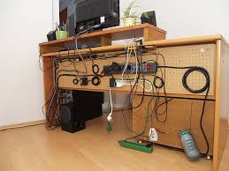 how to organize cables under desk perfect computer desk with cable management manitoba design