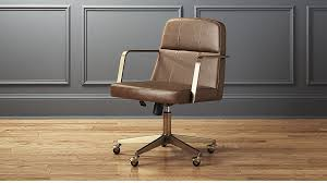 Real Leather Office Chair Draper Faux Leather Office Chair Reviews Cb2