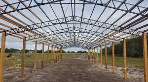 pole barn home steel truss pole barns