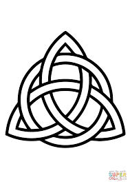celtic triquetra circle interlaced coloring page free printable