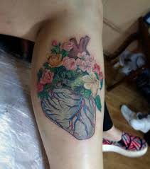 heart and flowers tattoo 111 heart tattoo for men and woman tattoozza