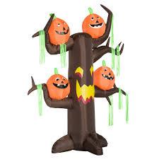 aosom homcom 8 u0027 haunted tree with jack o lantern pumpkins