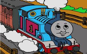 thomas tank coloring play train games
