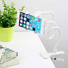 360 rotating flexible universal lazy phone stand clamp car bed