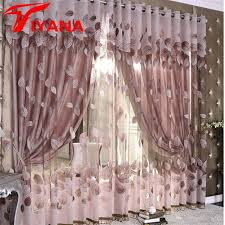 curtain designer luxury modern leaves designer curtain tulle window sheer curtain for