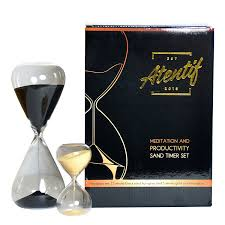 amazon com atentif hourglass clock timers 25 and 5 minute black