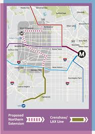 Santa Monica Map Light Rail Extension To West Hollywood Might Happen Much Sooner