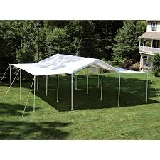 10 x 20 white party tent gazebo canopy with sidewalls instructions