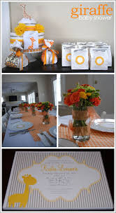 giraffe baby shower ideas real party giraffe baby shower