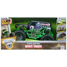 power wheels grave digger monster truck bright remote control 6 4v grave digger truck