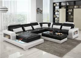 Black And White Sectional Sofa Casa 6145 Modern Black And White Leather Sectional Sofa