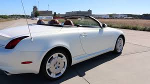 convertible lexus 2002 lexus sc430 hardtop convertible for sale pearl white brown