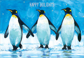 3 penguins box of 18 cards by designer greetings