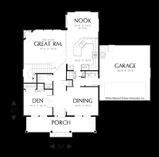 den floor plan mascord house plan 2153 the jamestown