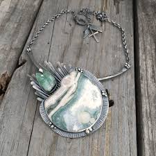 sterling silver handmade necklace images Handmade sterling silver ocean jasper necklace by wild prairie jpg