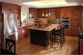 plywood stonebridge door merapi kitchen with cherry cabinets