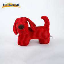 door stopper red dog decorative animal style dog door draft