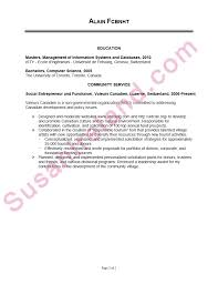 Resume Sample For Application by Resume Sample For Mba College Application Susan Ireland Resumes