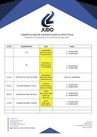Calendrier Fdration Franaise De Calendrier Compétitions Championnats 2017 2018 Comité Du Pas De