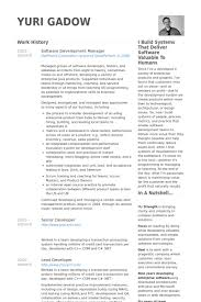 Software Test Manager Resume Sample by Software Development Manager Resume Samples Visualcv Resume