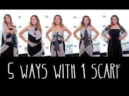 5 ways to wear 1 scarf youtube