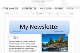 how to make a newsletter template in word techwalla com
